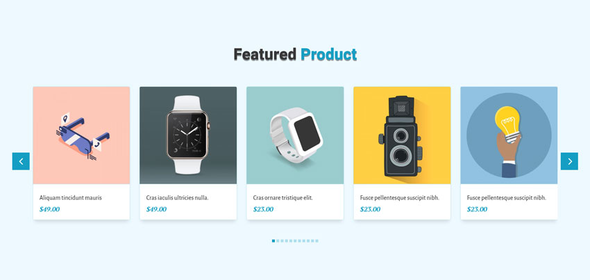 divi product slider
