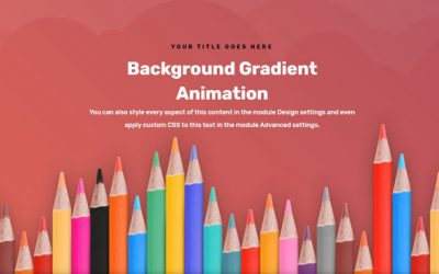 How to create background gradient animation in Divi?