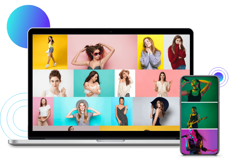 Eye-catching gallery design example with the Divi gallery modules