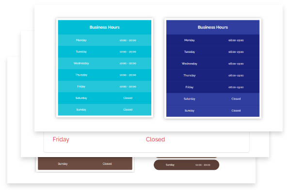 Premade Divi Template for Business Hour Module